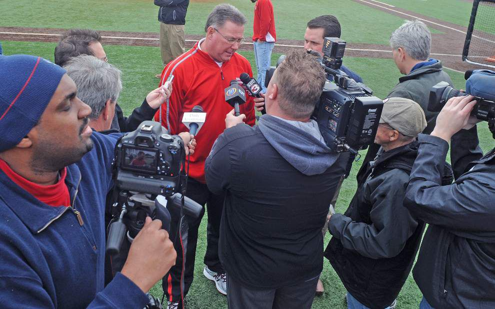 Video: Tony Robichaux said he likes the Ragin Cajuns' pitching staff _lowres
