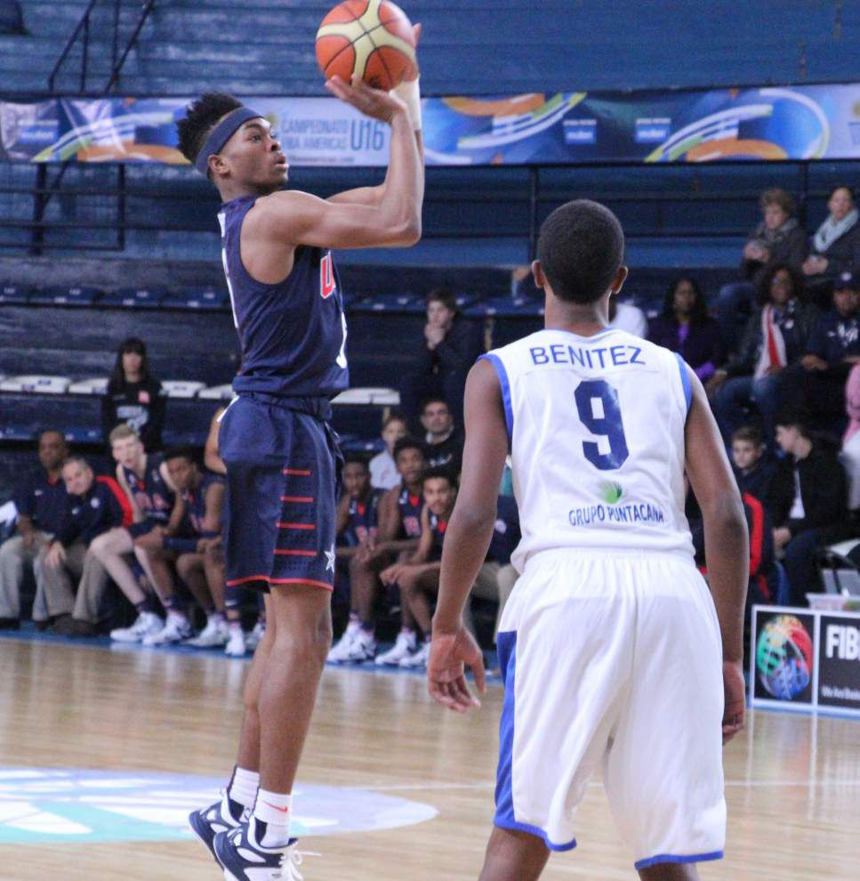 Ja'Vonte Smart wins gold with USA basketball _lowres