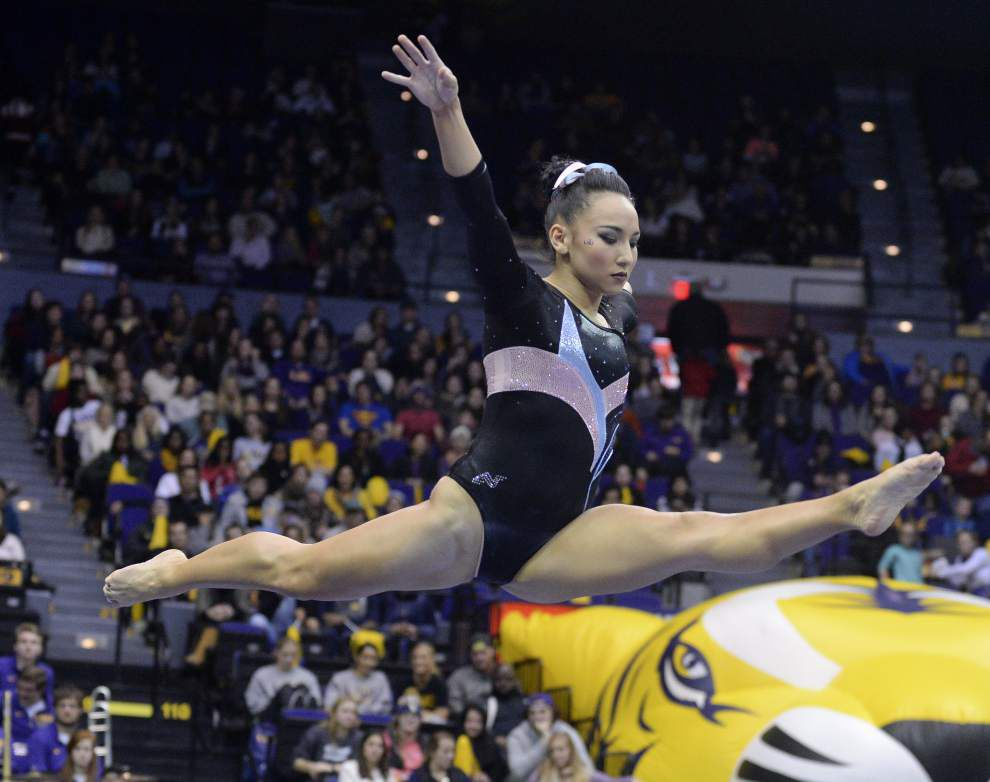 Perfect 10.0 on vault from Ashleigh Gnat leads LSU gymnastics team to bounce-back win over Kentucky _lowres
