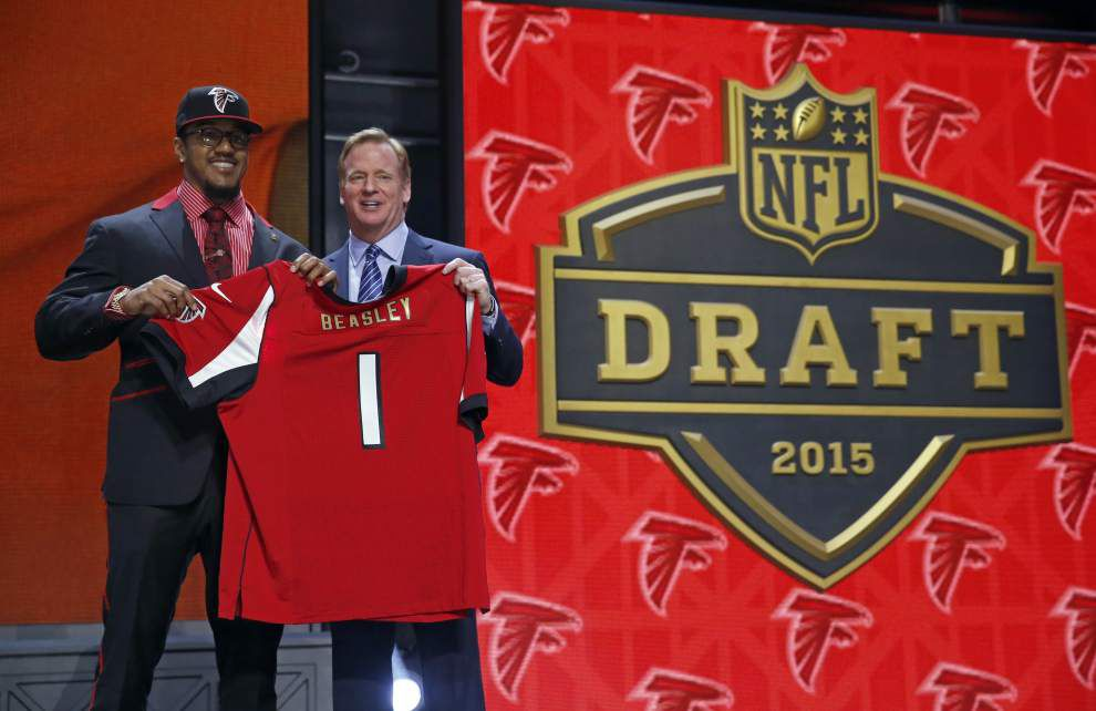 How Atlanta Falcons, Carolina Panthers, Tampa Bay Bucs fared in NFL draft's first round _lowres