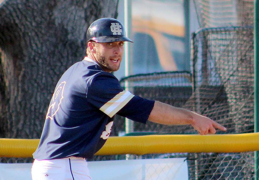 Opportunistic Holy Cross baseball team reflects coach's mantra in victory over Hammond _lowres