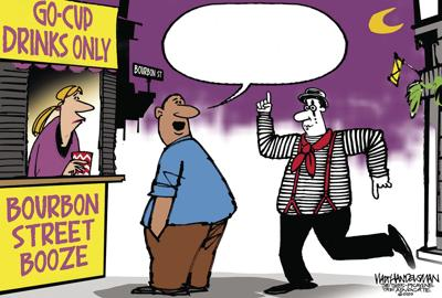 Think you can write the funniest punchline about Bourbon Street go-cups being back? Take a shot in Walt Handelsman's newest Cartoon Caption Contest!