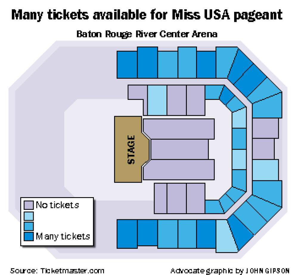 Yet another blow to Miss USA pageant: Ticket sales sluggish; 1,000-plus seats still unsold _lowres