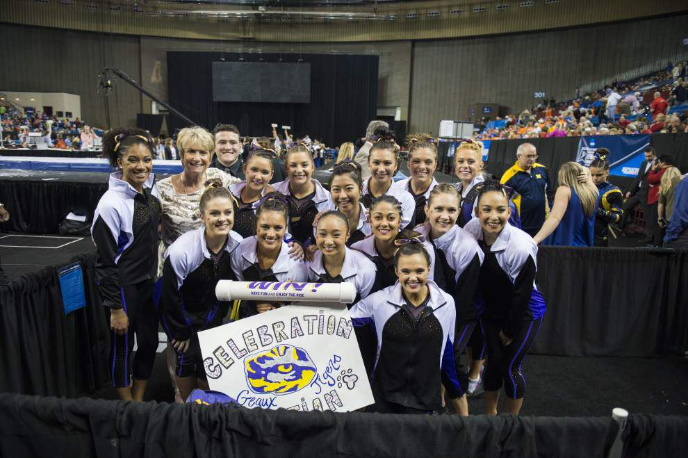 LSU gymnastics notebook: Tigers are ready to get their hands on the national-title trophy — the real one this time _lowres