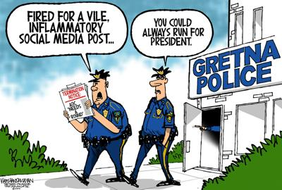 Walt Handelsman: Gretna Cops Fired