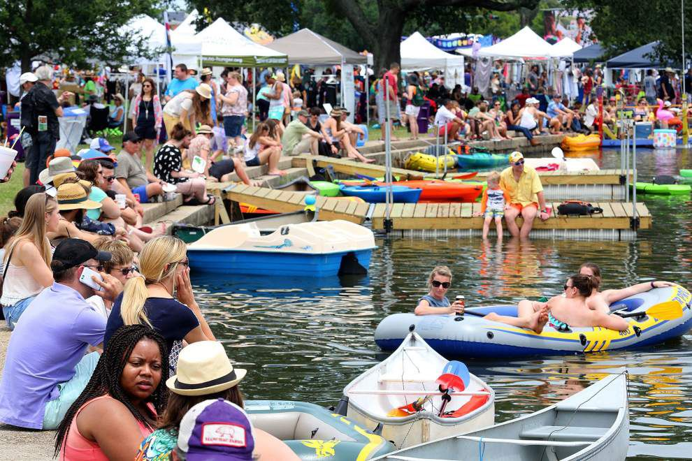 Video: Drone shows big rafts, clear skies, huge crowds at Bayou Boogaloo _lowres