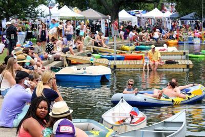 Video: Drone shows big rafts, clear skies, huge crowds at Bayou Boogaloo _lowres