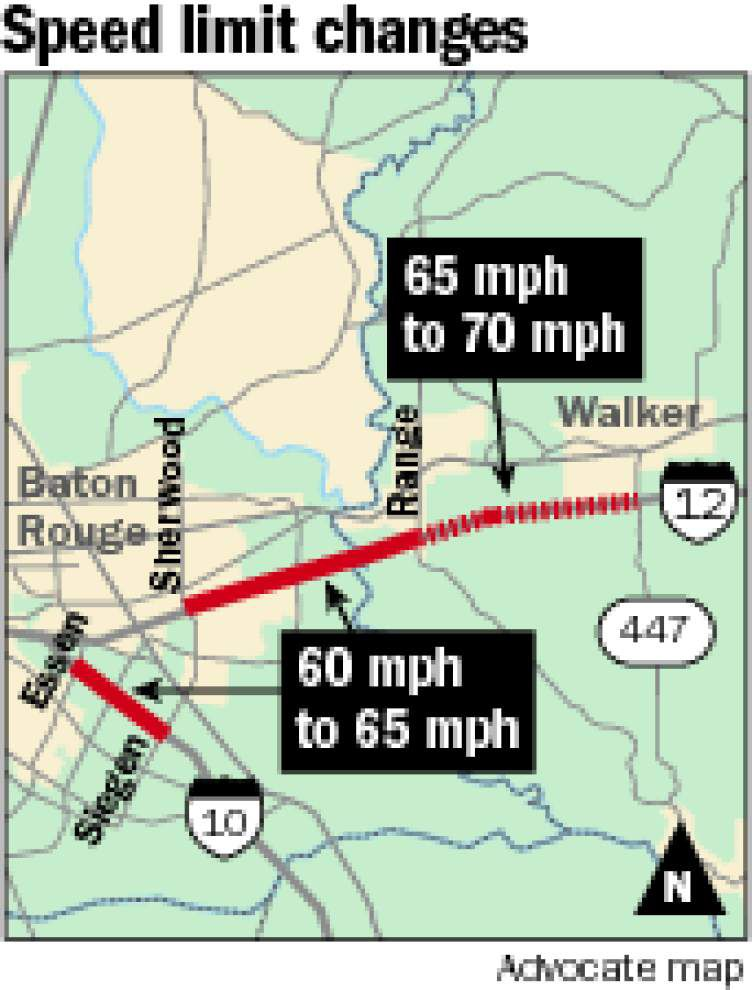 DOTD unveils speed limit increases for 3 interstate stretches in Baton Rouge area _lowres