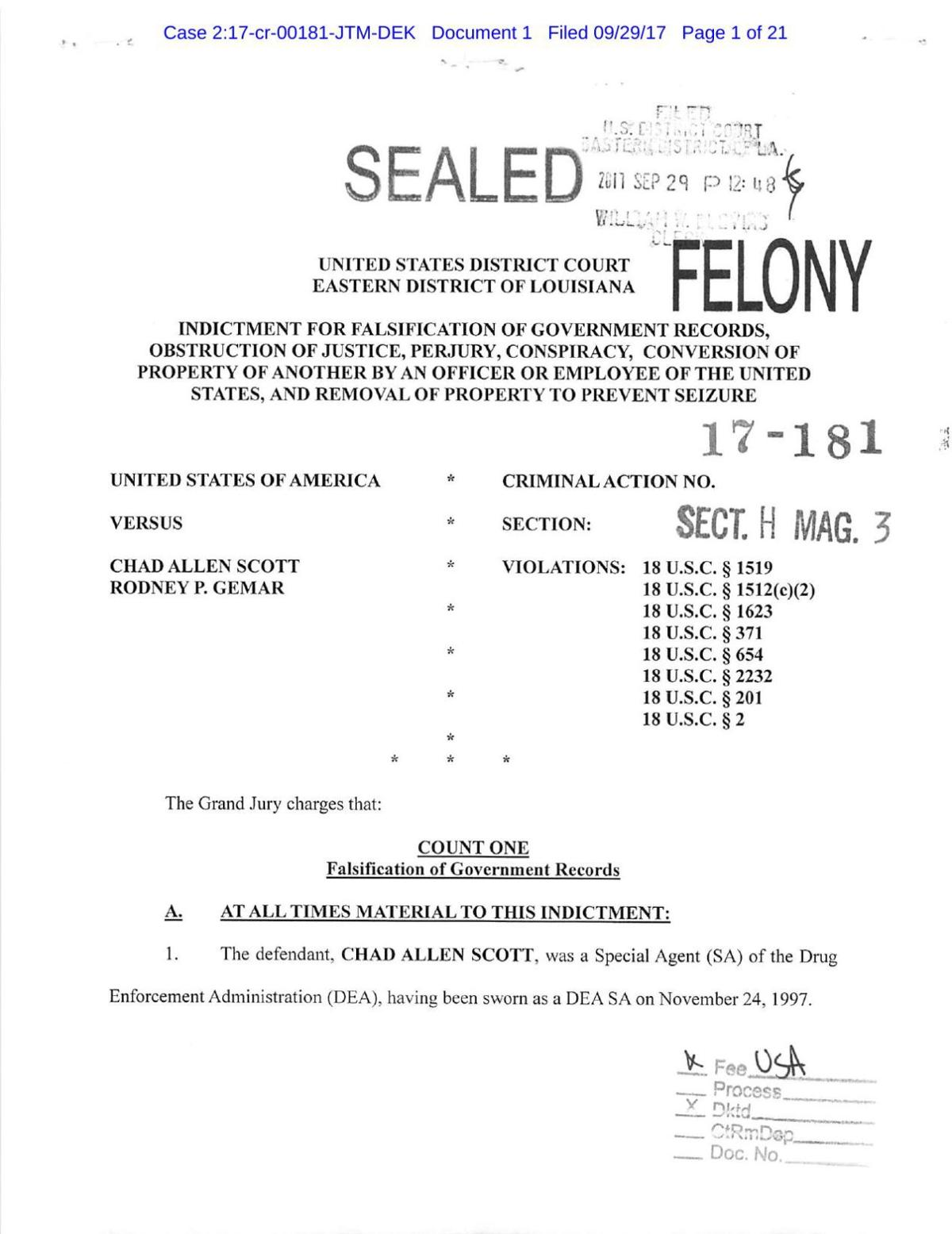 Chad Scott indictment