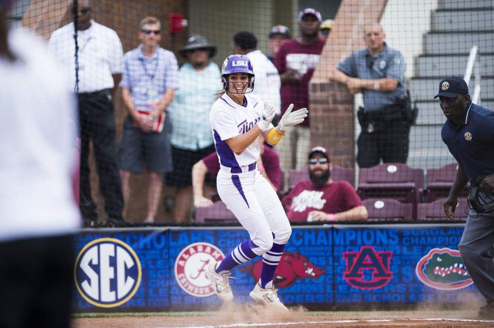 Postseason seems to bring best out of LSU outfielder Bailey Landry _lowres