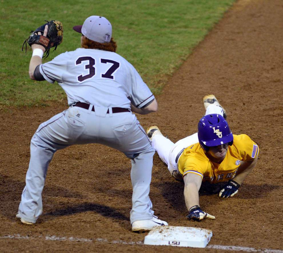 The LSU baseball team has moved up in the college baseball polls _lowres