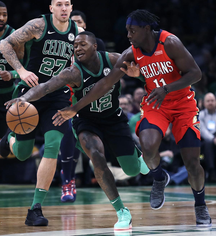 Pelicans Celtics Basketball