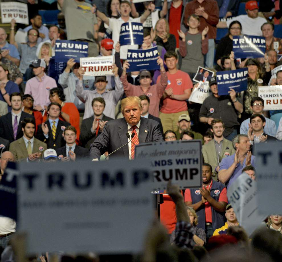 Republican frontrunner Donald Trump's blunt style fires up massive, 'amazing' Baton Rouge crowd _lowres