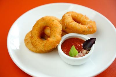 Shrimp rings at Warbucks