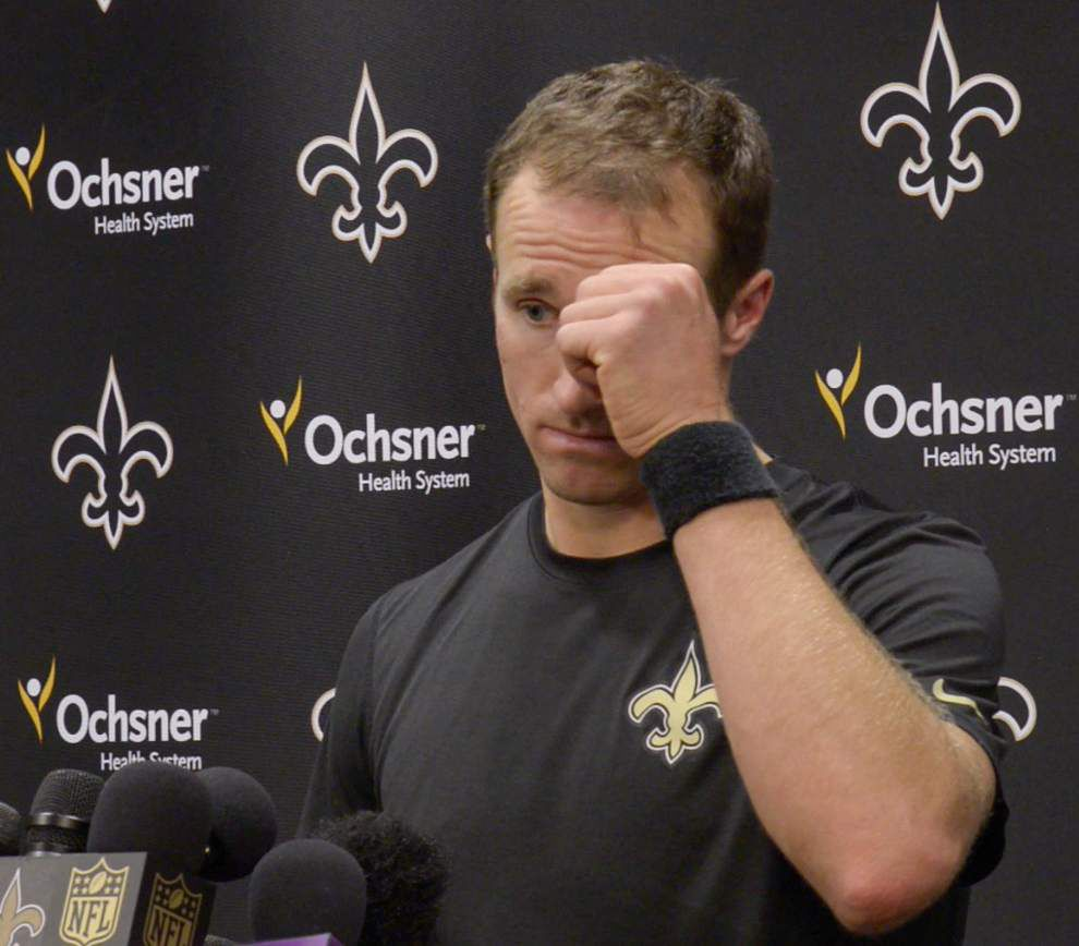 Report: Behind scenes, Saints QB Drew Brees still unsure if he'll play vs. Panthers _lowres