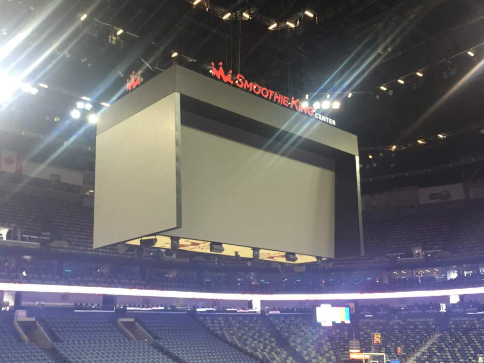 Photos: New Smoothie King Center video screens really, really big -- all the better for Anthony Davis replays _lowres