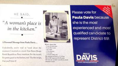 Davis Campaigns On Womans Place Is In The Kitchen Comment