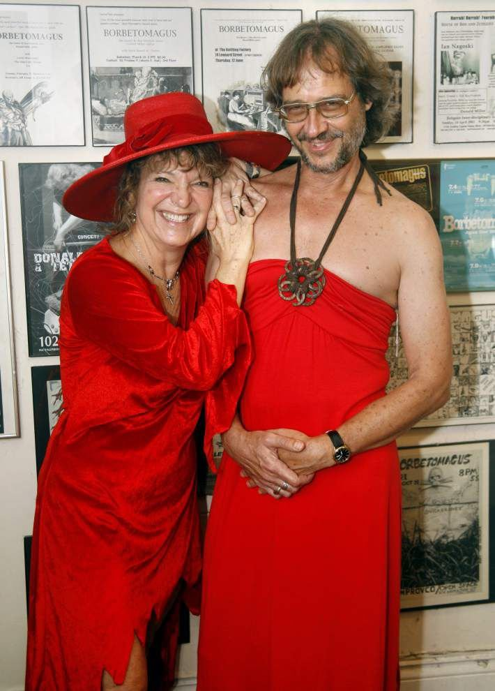 From thrift stores to hardware stores to the costume closet, runners get creative for their Red Dress Run outfits _lowres