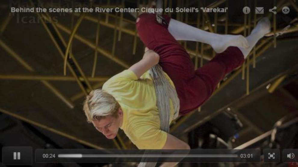 Video: Behind the scenes at the River Center: Cirque du Soleil's 'Varekai' _lowres