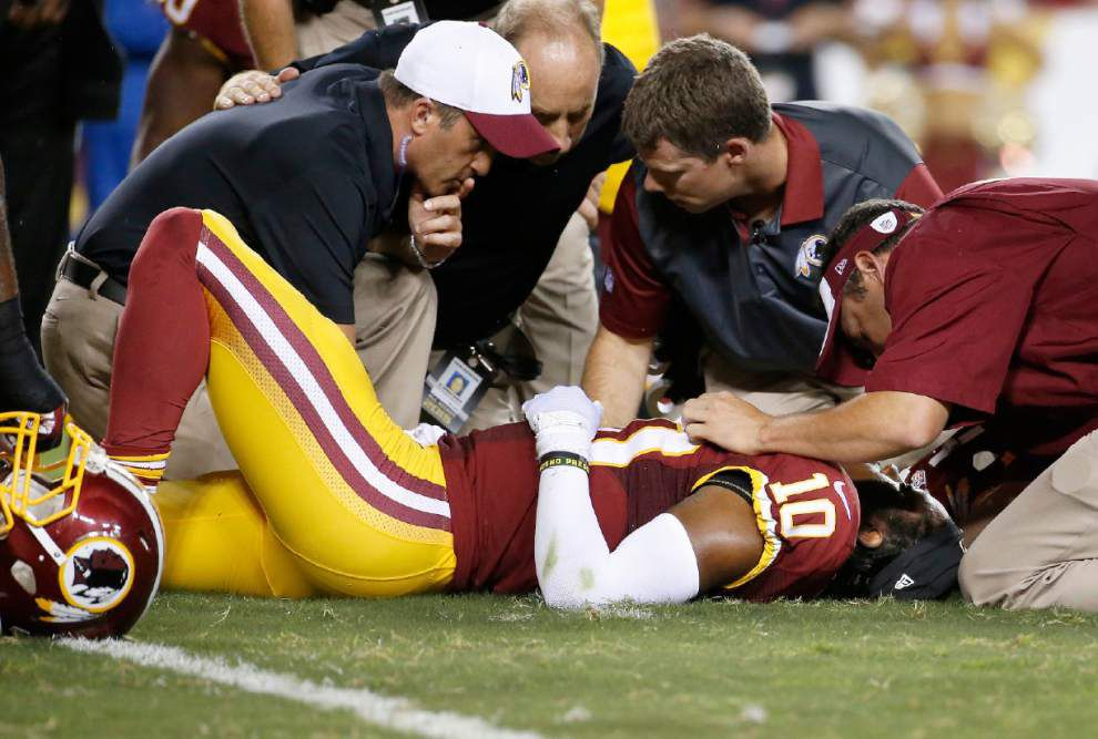 Redskins tight end says Robert Griffin III is 'fine' _lowres