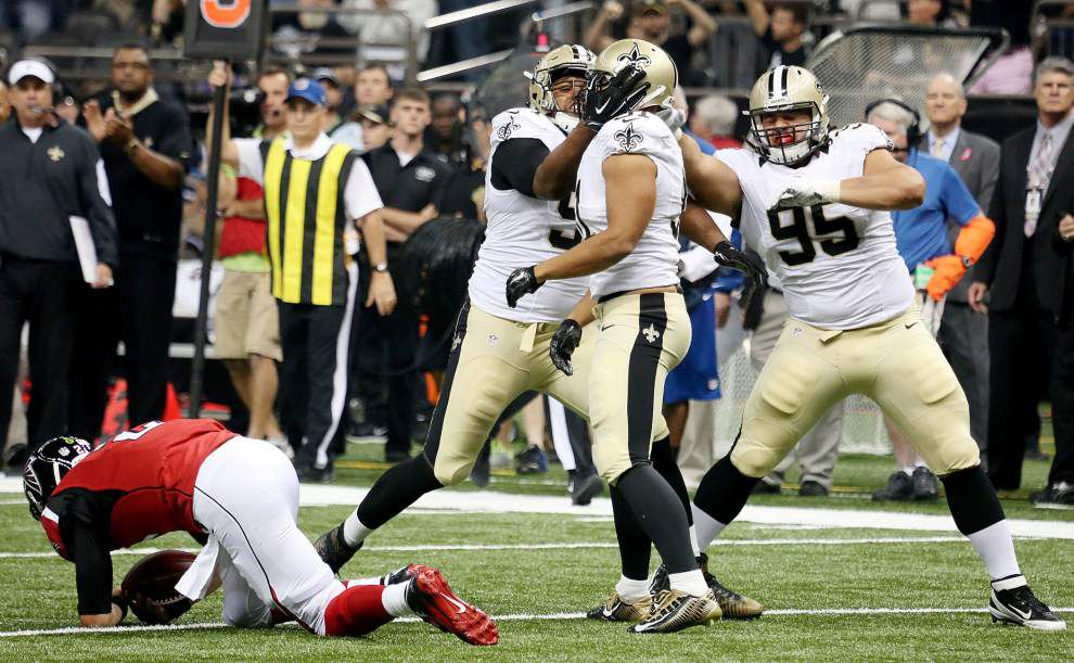 Saints soar past unbeaten Falcons 31-21 in the Superdome for their second win of season _lowres