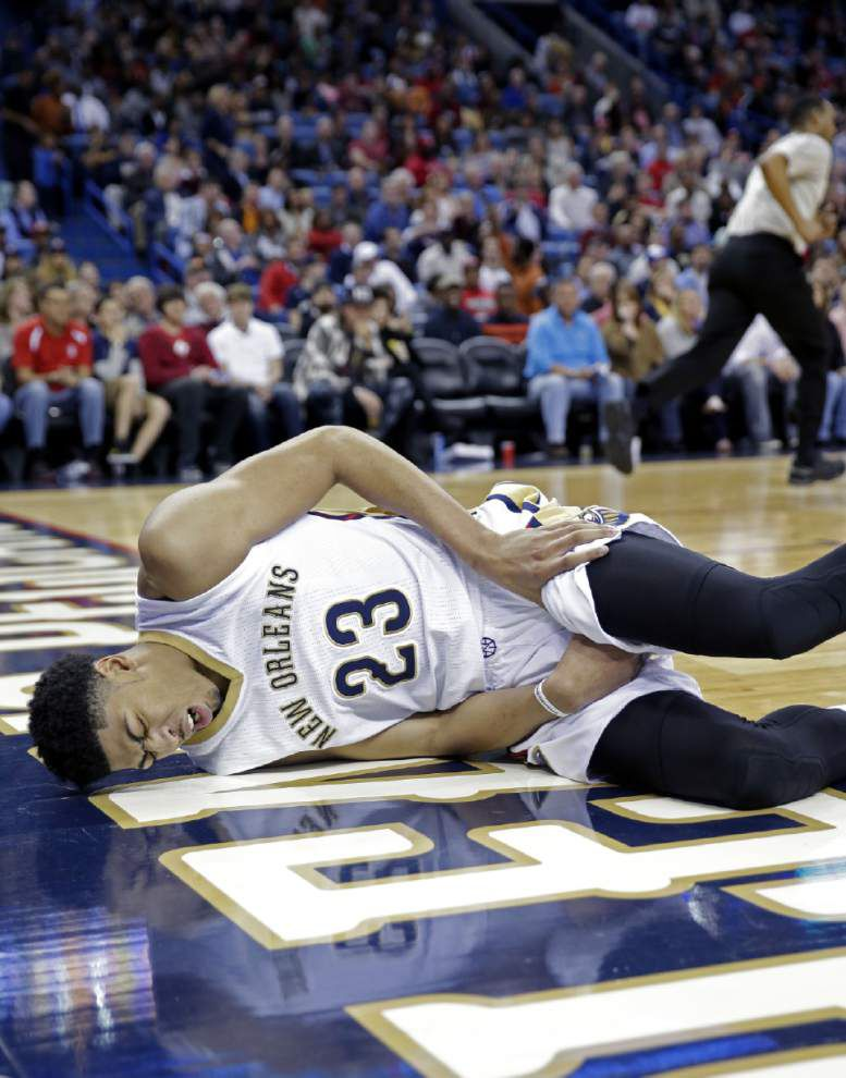Pelicans star Anthony Davis day-to-day with strained groin muscle _lowres