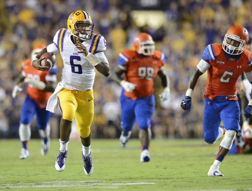 LSU freshman QB Brandon Harris a special talent _lowres