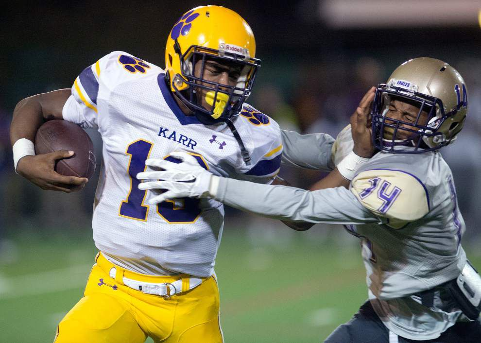 Warren Easton ends drought against Karr, takes control of District 9-4A with 40-14 win _lowres