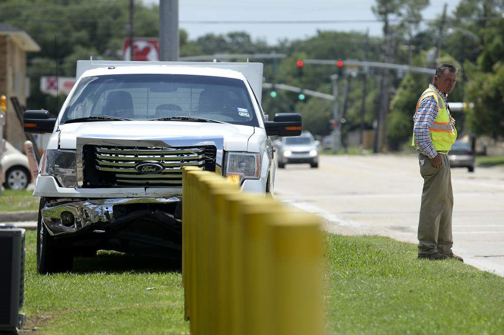 Photos: Vehicle hits fence _lowres