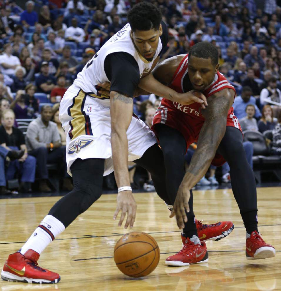 Pelicans expect Anthony Davis back for key game against Rockets _lowres