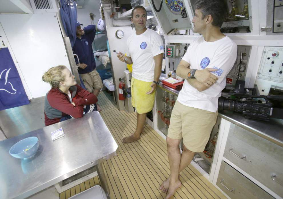 Fabien Cousteau ends mission at undersea lab _lowres
