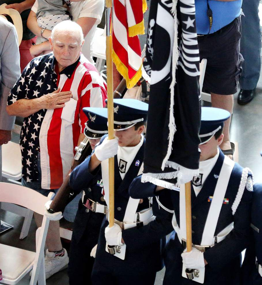 Photos: Veterans, families gather to remember fallen Americans at National WWII Museum _lowres
