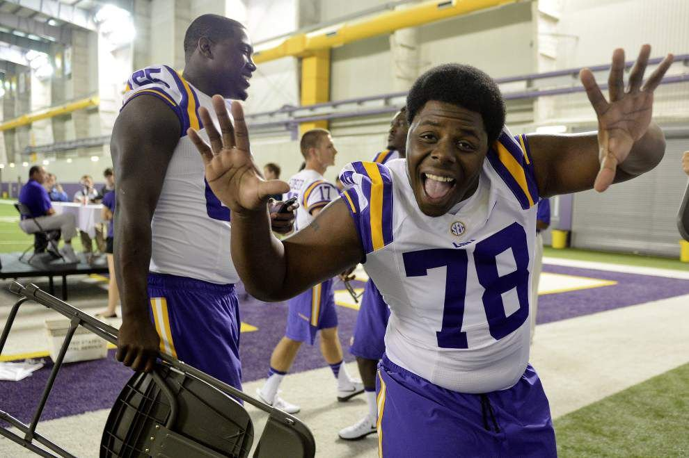 In Year 2, Baton Rouge's Garrett Brumfield fighting to get into LSU's offensive line rotation _lowres