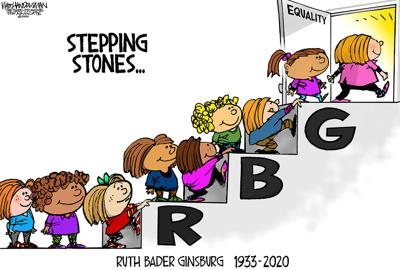 Walt Handelsman: Ruth Bader Ginsburg Tribute