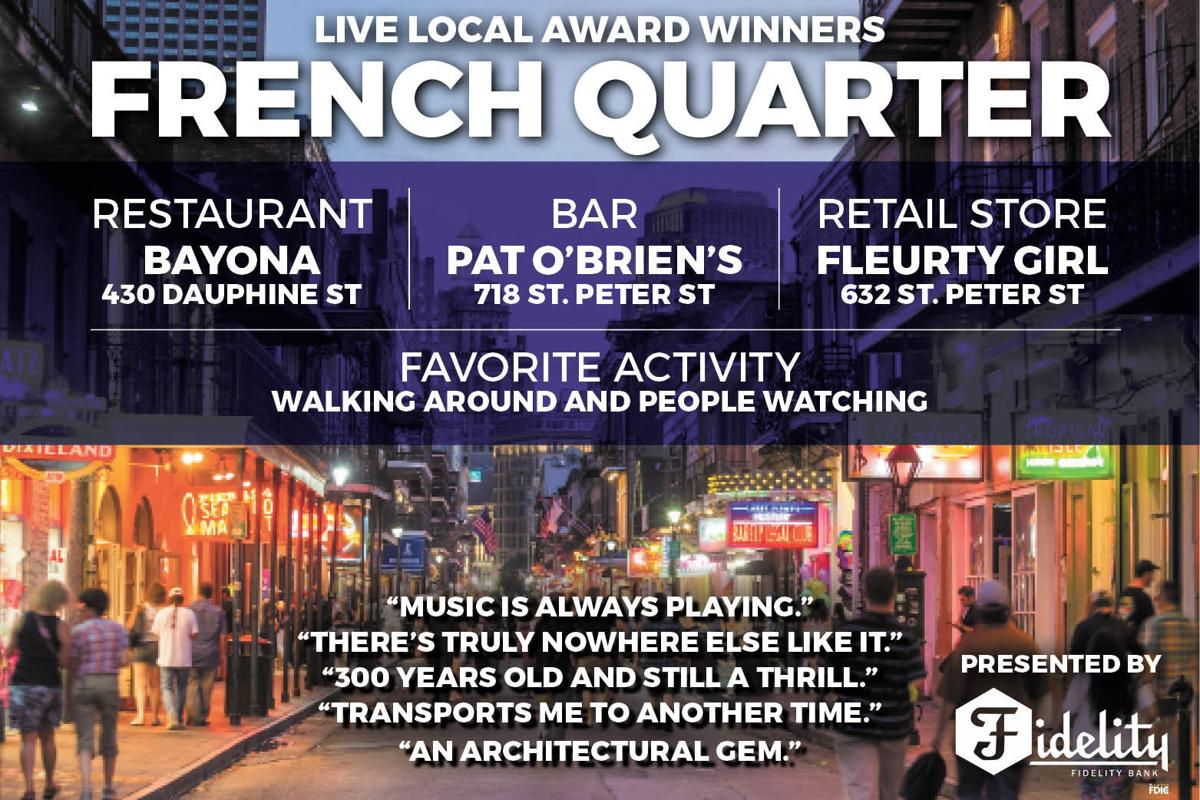 Live Local Awards - French Quarter WINNERS