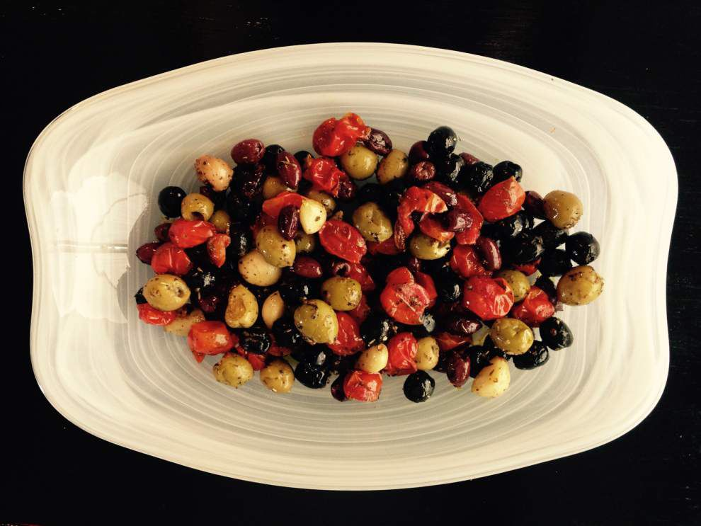 Roasted olives make for an easy appetizer _lowres