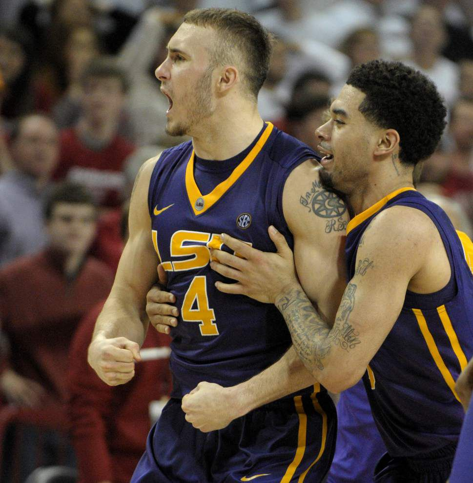 Sidelined by injury, senior guard Keith Hornsby calls time at LSU 'the best two years' of his life _lowres