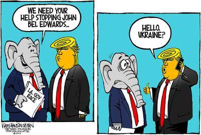 Walt Handelsman: Another Trump Call...