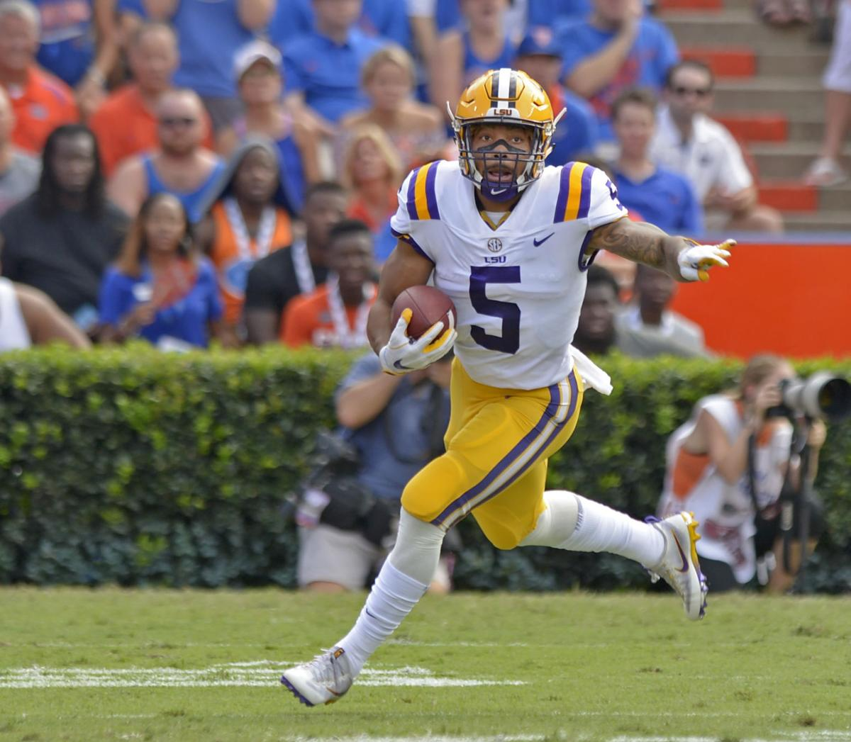 Lsu Rb Derrius Guice Still Limited With Nagging Injury