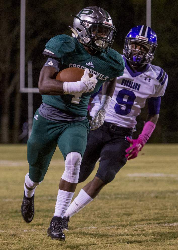 Photos: Plaquemine holds off Woodlawn, Catholic sprints past St. Amant in Baton Rouge prep football _lowres
