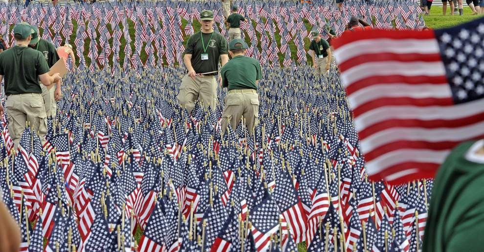 Photos: 11,000 flags planted downtown to commemorate Louisiana's war fallen _lowres