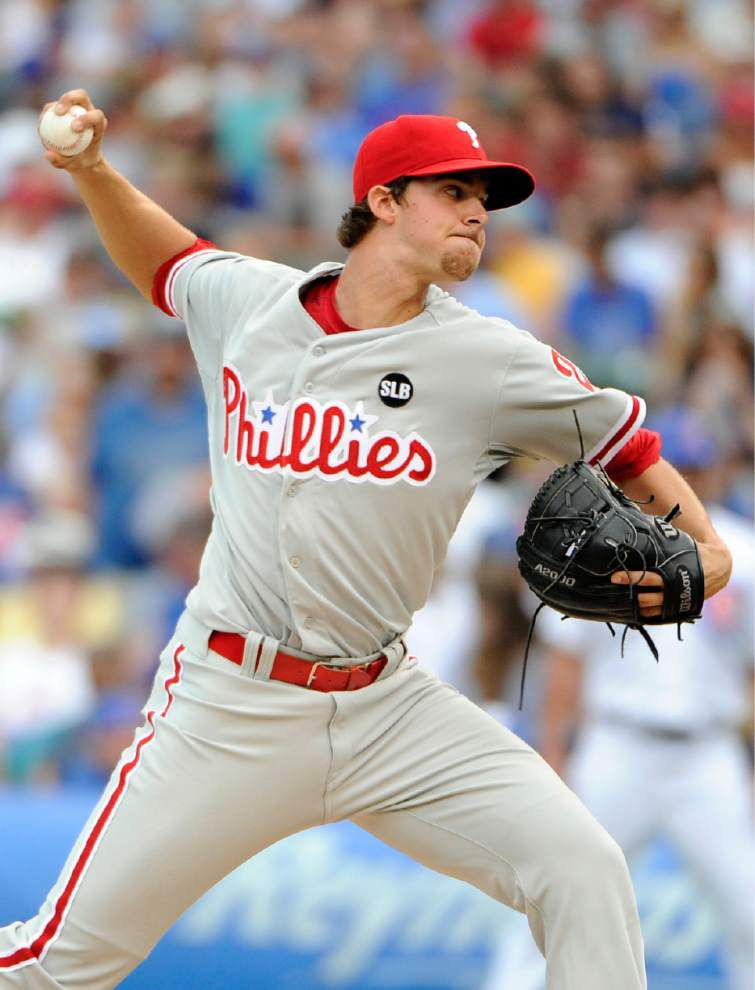Former LSU ace Aaron Nola gets first major league win as Phillies sweep the Cubs with 11-5 win _lowres