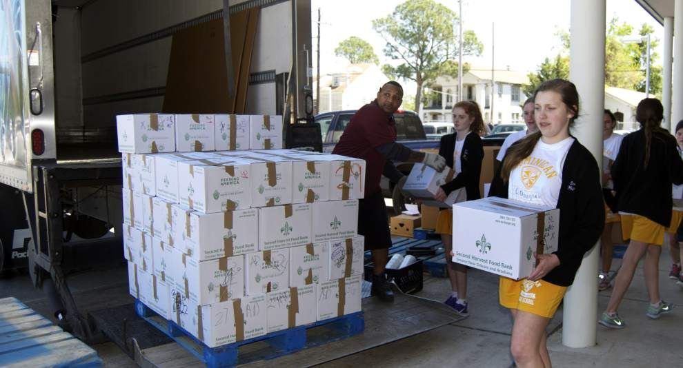 Dominican school food drive is largest for Second Harvest  'Hunger Games' teams pay 'tribute' through donations _lowres