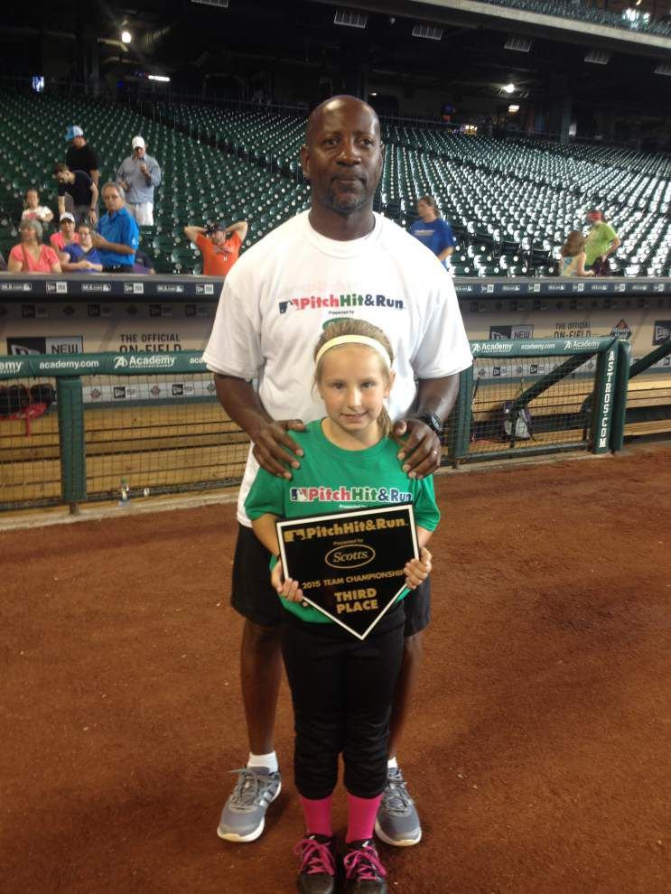Local girl places third in baseball contest _lowres