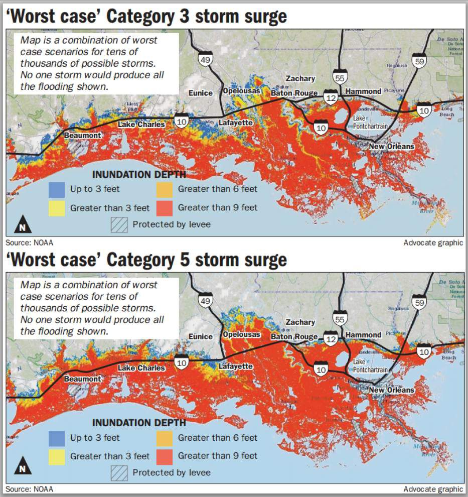 New storm surge map predicts worst-case scenarios for south La. _lowres