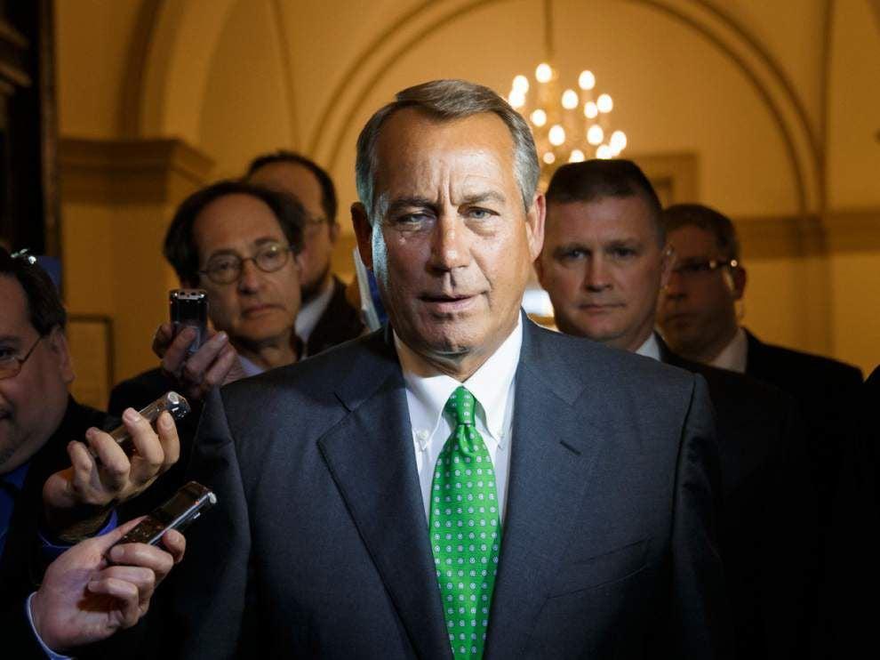 Boehner won't promise vote on tax overhaul in 2014 _lowres