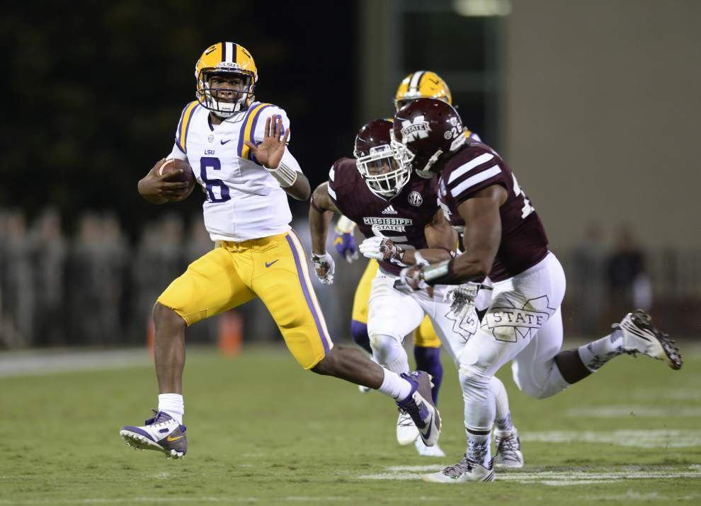 LSU's Les Miles not downplaying Auburn, says QB Brandon Harris 'did just what we asked him to do' vs. Mississippi State _lowres