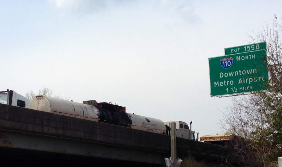 I-10 lanes reopen following truck fire at Perkins, near Dalrymple that snarled traffic for most of Sunday _lowres