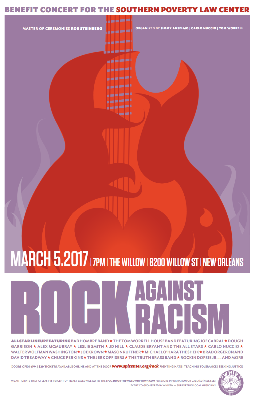 """""""Rock Against Racism"""" concert to benefit SPLC_lowres"""