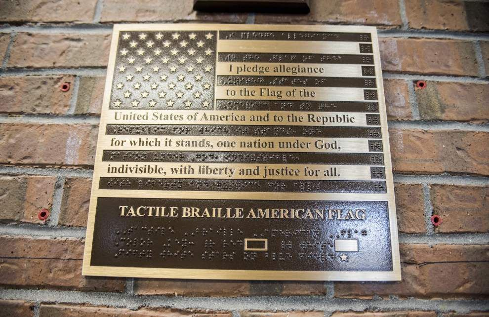 BR Eagle Scout's project honors blind veterans with Braille flags _lowres